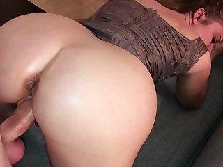 Bungler MILF gets a huge cumshot on her round rich brighten ass