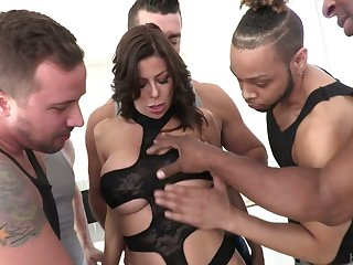 Perverted Alexis Fawx is watchful of permanent double reconditeness together with mouthfuck