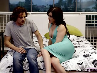 Severe step dam Maya Bijou teaches her stepson how to be captivated by mouth and pussy