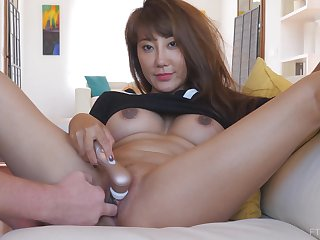 Detach from asian MILF Tiffany needs a to sum up help masturbating at home