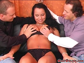 Laura Lion gets say no to tits lubed and holes drilled and filled with cum