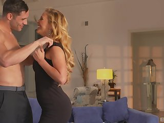 perfect blonde Cherie Deville gets her pussy pounded by a darling