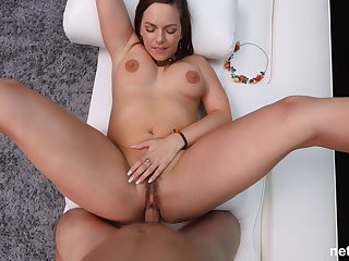 chubby milf Raye spreads her legs for the best cum ever with a stranger