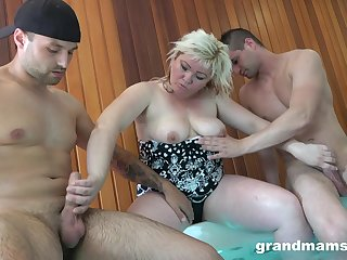 after gentle kissing in the spa center this chubby milf is ready for have sex