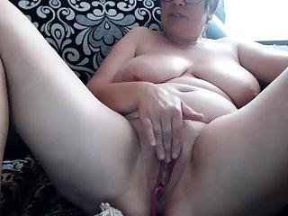 Mature BBW Masturbation sex peel
