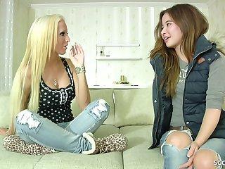 18yr Old Skinny German Young Girl Roguish Lesbian Sex
