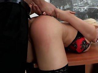 Blonde Slut Mouthfucked at affectation