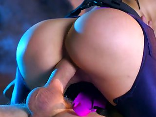 Stout cosplay adult action connected with big ass milf Aletta Bounding main