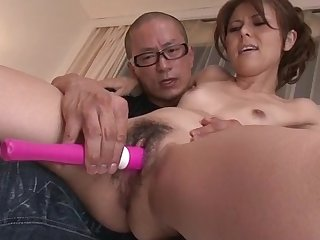 Slim Japanese lets older man to behave oneself with say no to pussy