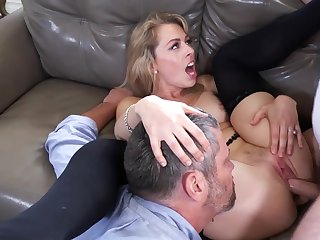 Mind blowing cuckold shag greater than a difficulty couch with Zoey Monroe