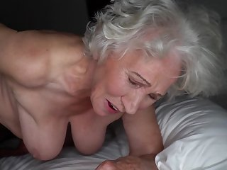 Grey-haired cunt of fat granny gets pounded by young pencil