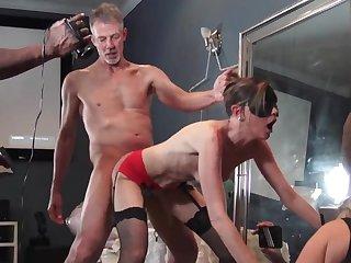 MILFs enjoying cocks in homemade group video